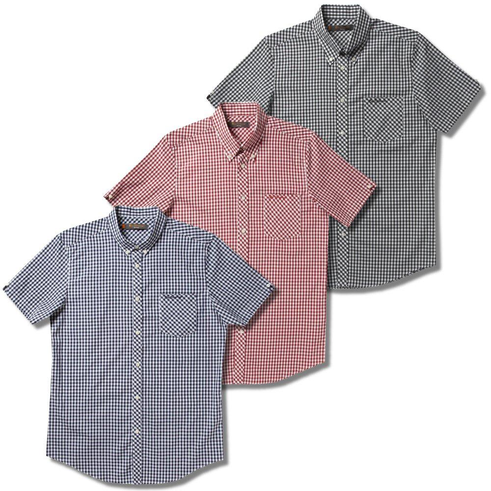 Red Ben Sherman Mod Skin Gingham Check Short Sleeve Shirt