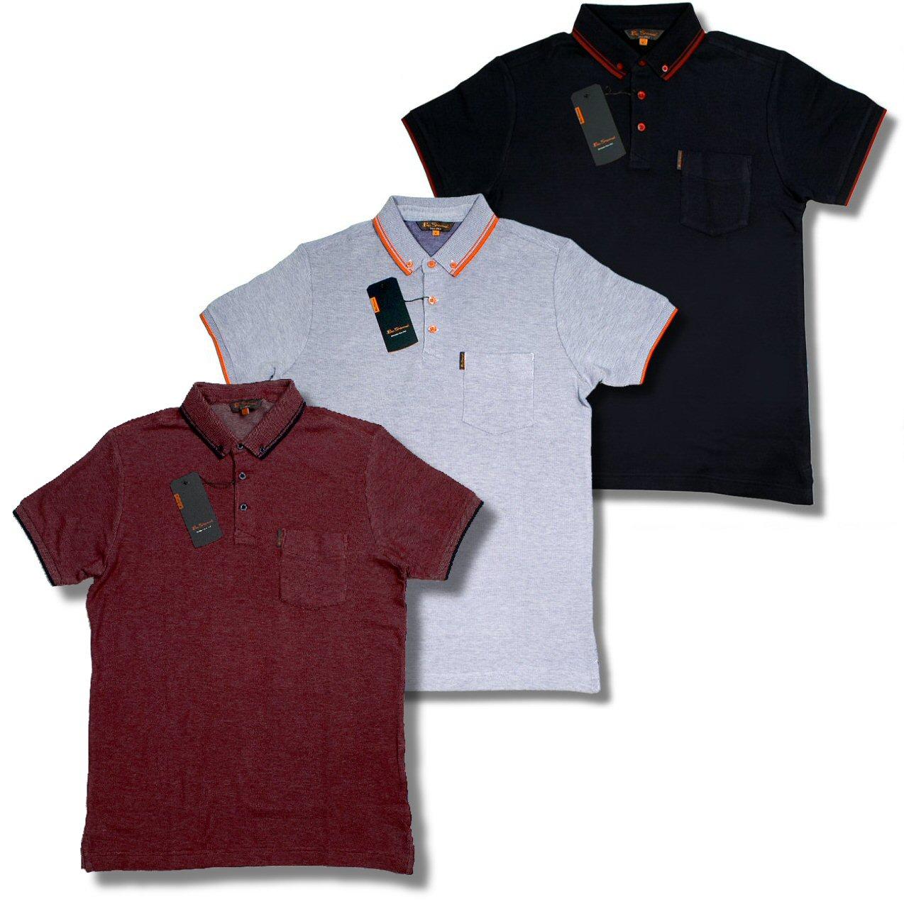 ben sherman mod pique tipped button down polo shirt adaptor clothing. Black Bedroom Furniture Sets. Home Design Ideas