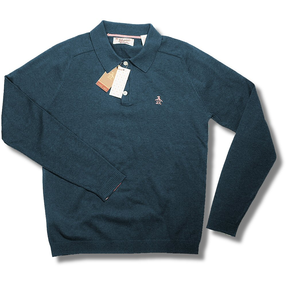 Original penguin 3 button l s raglan sleeve fine knit for 3 button polo shirts