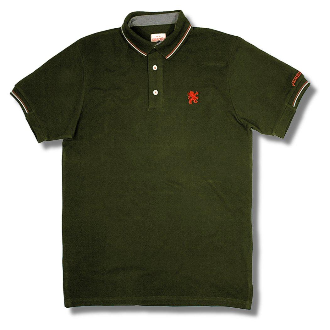 Lambretta mod 3 button tipped s s pique plain polo shirts for 3 button polo shirts