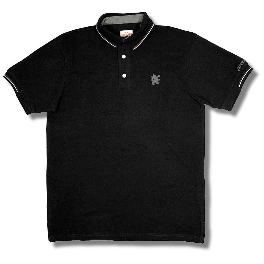 Lambretta mod 3 button tipped s s pique plain polo shirt for 3 button polo shirts