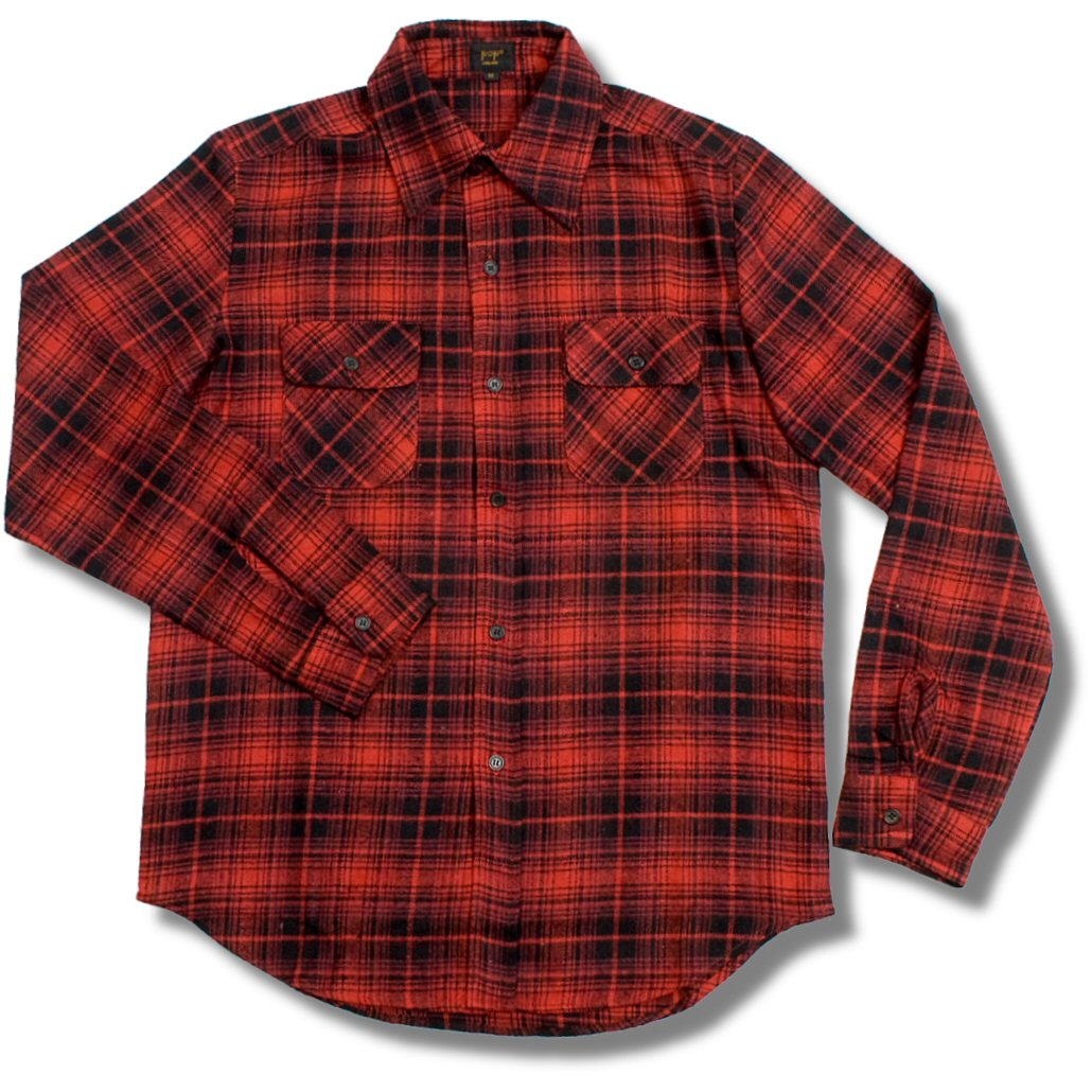 pop boutique thick flannel lumberjack check shirt red