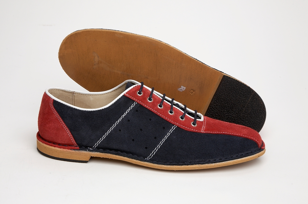 Delicious Junction Exclusive Mod Retro Bowling Shoe Red / Navy ...
