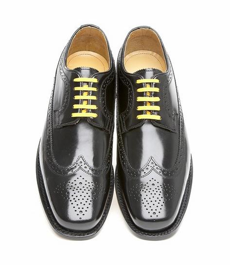 Delicious Junction Skin Mod Brogue Royale Goodyear Welt Sole Shoe Black Thumbnail 2