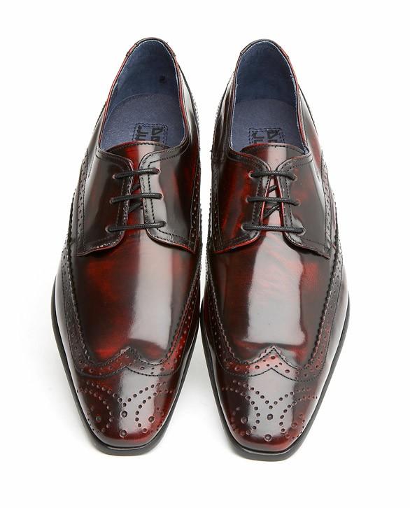 Mens High Shine Brown Shoes