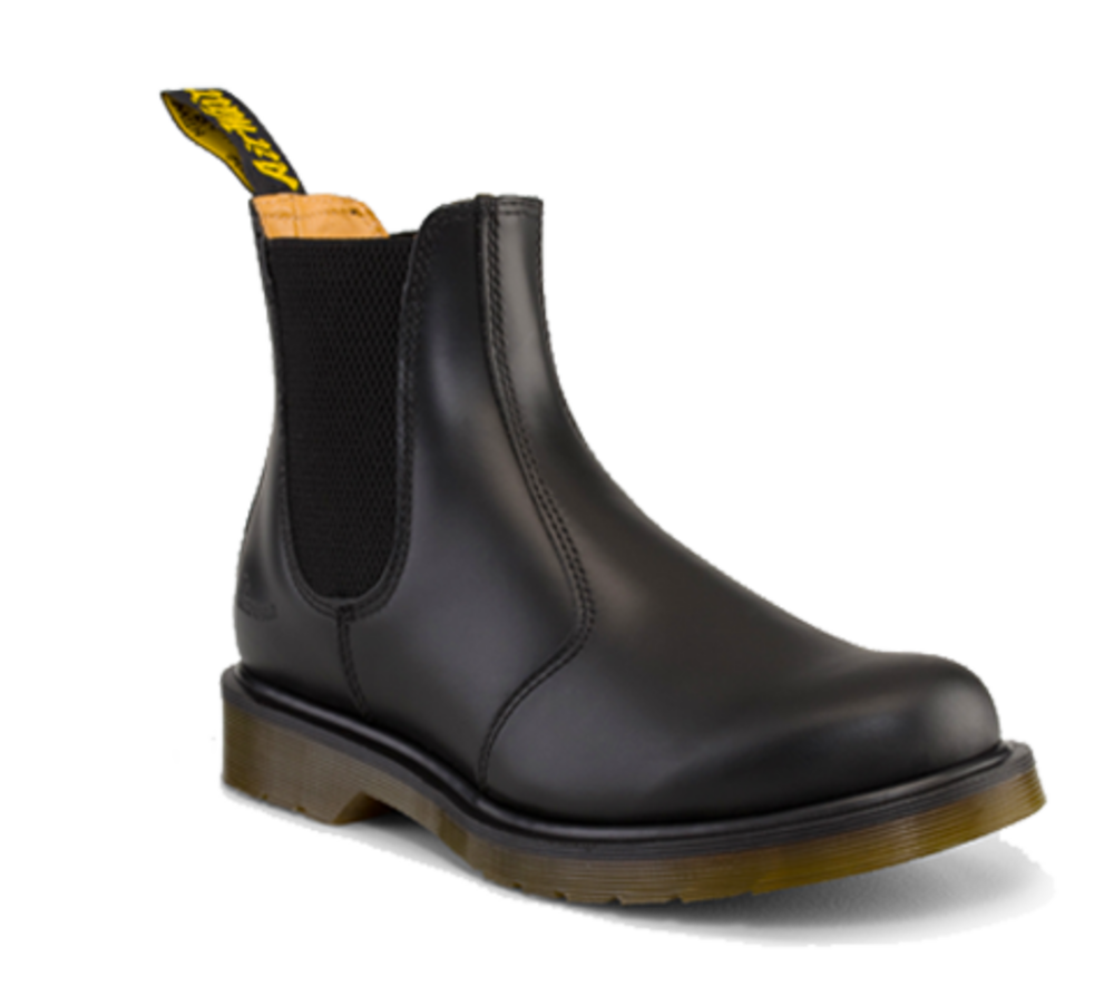 new dr martens air wair 2976 chelsea dealer boot black smooth leather adaptor clothing. Black Bedroom Furniture Sets. Home Design Ideas