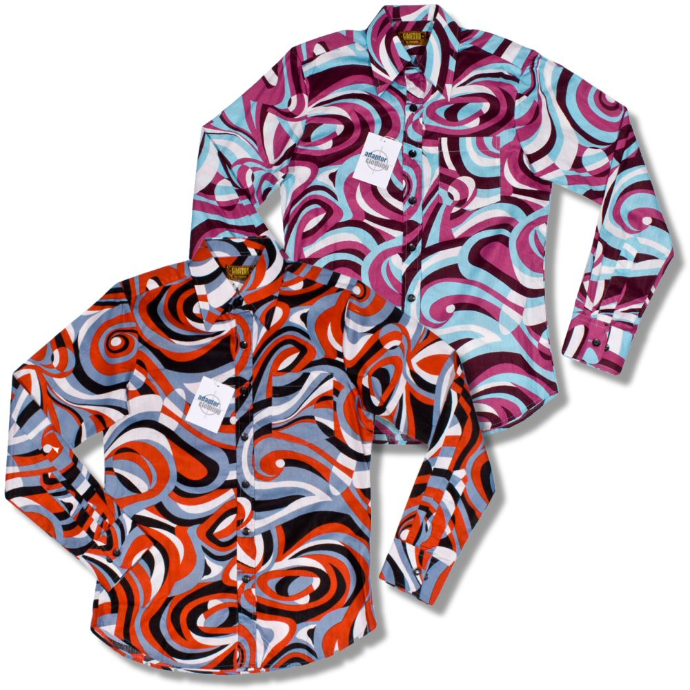 chemise chenaski retro picasso ann es 60 70 manches longues ebay. Black Bedroom Furniture Sets. Home Design Ideas