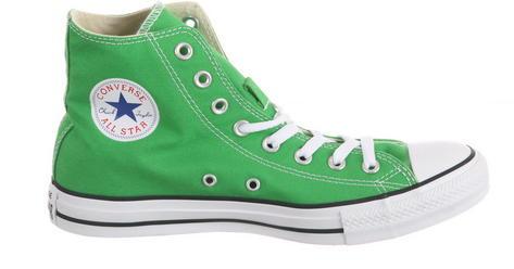 converse hi top chucks trainer boots bright neon jungle. Black Bedroom Furniture Sets. Home Design Ideas