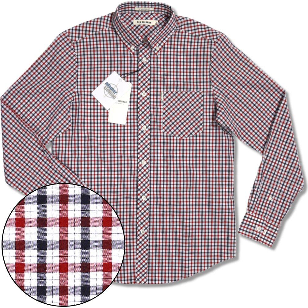 Ben Sherman House Check Cotton Button Down Pocket Tag L S