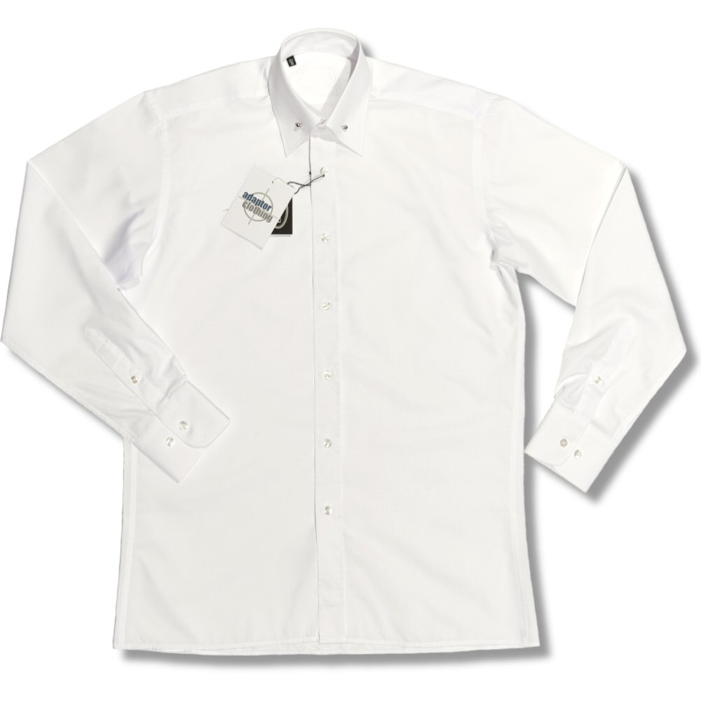 Bravo retro mod 60 39 s ball bar pin collar point collar l s for White shirt with collar pin