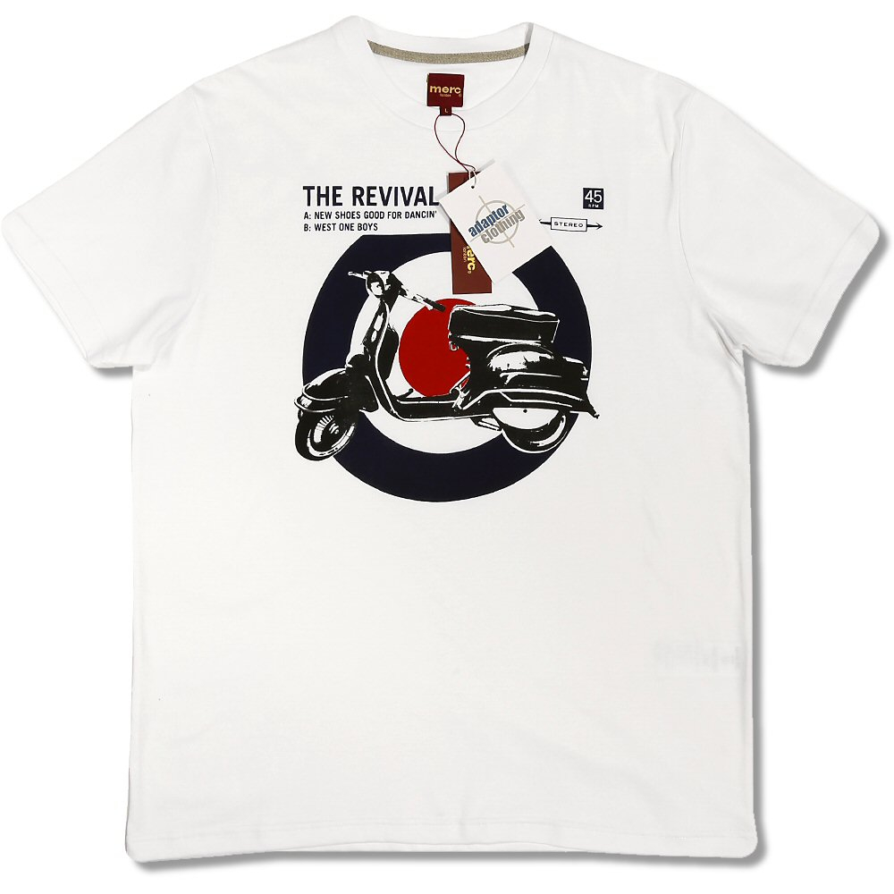 merc london retro 60 39 s mod revival target vespa scooter t shirt adaptor clothing. Black Bedroom Furniture Sets. Home Design Ideas