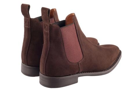 John White Cheshire 60's Retro Mod Chelsea Beat Boot Suede Brown  Thumbnail 2