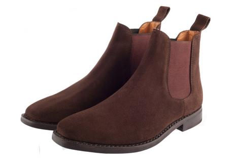John White Cheshire 60's Retro Mod Chelsea Beat Boot Suede Brown  Thumbnail 1