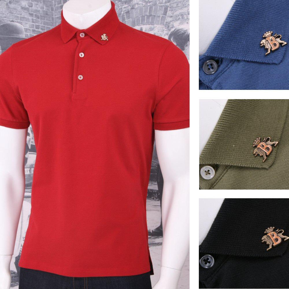 Baracuta original mod retro 60 39 s s s 3 button badge pique for 3 button polo shirts