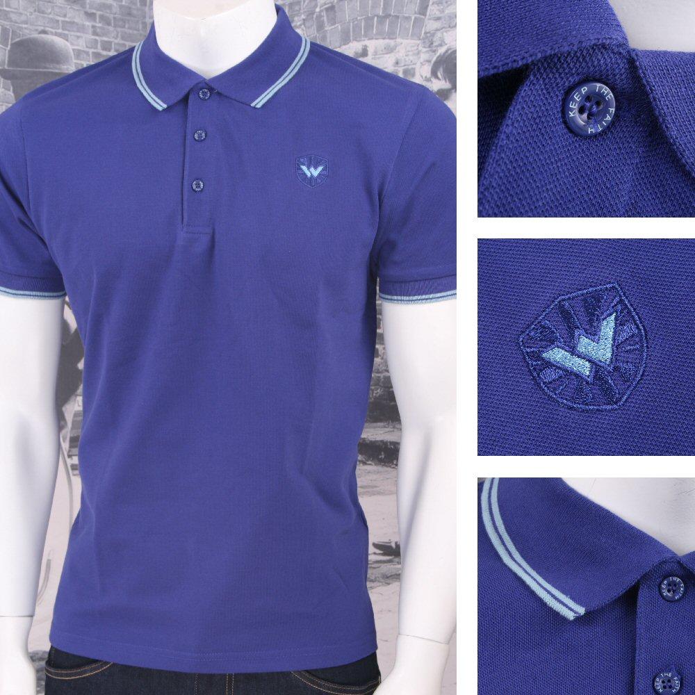 warrior clothing 3 button pique sleeve tipped retro