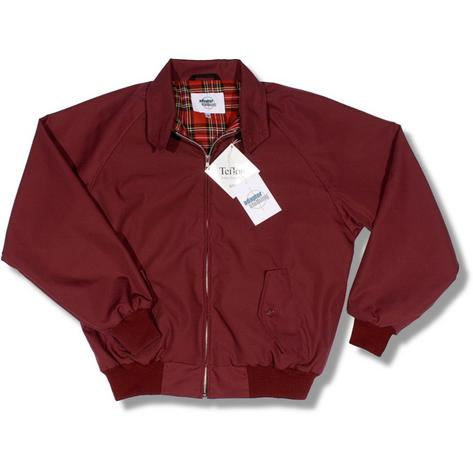 Adaptor Clothing Mod 60's Retro Teflon Coated Raglan Sleeve Harrington Jacket Thumbnail 2