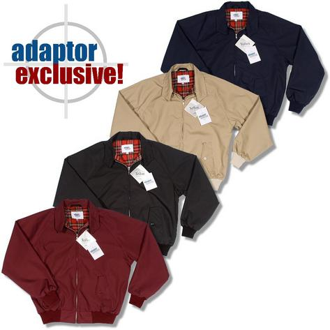 Adaptor Clothing Mod 60's Retro Teflon Coated Raglan Sleeve Harrington Jacket Thumbnail 1