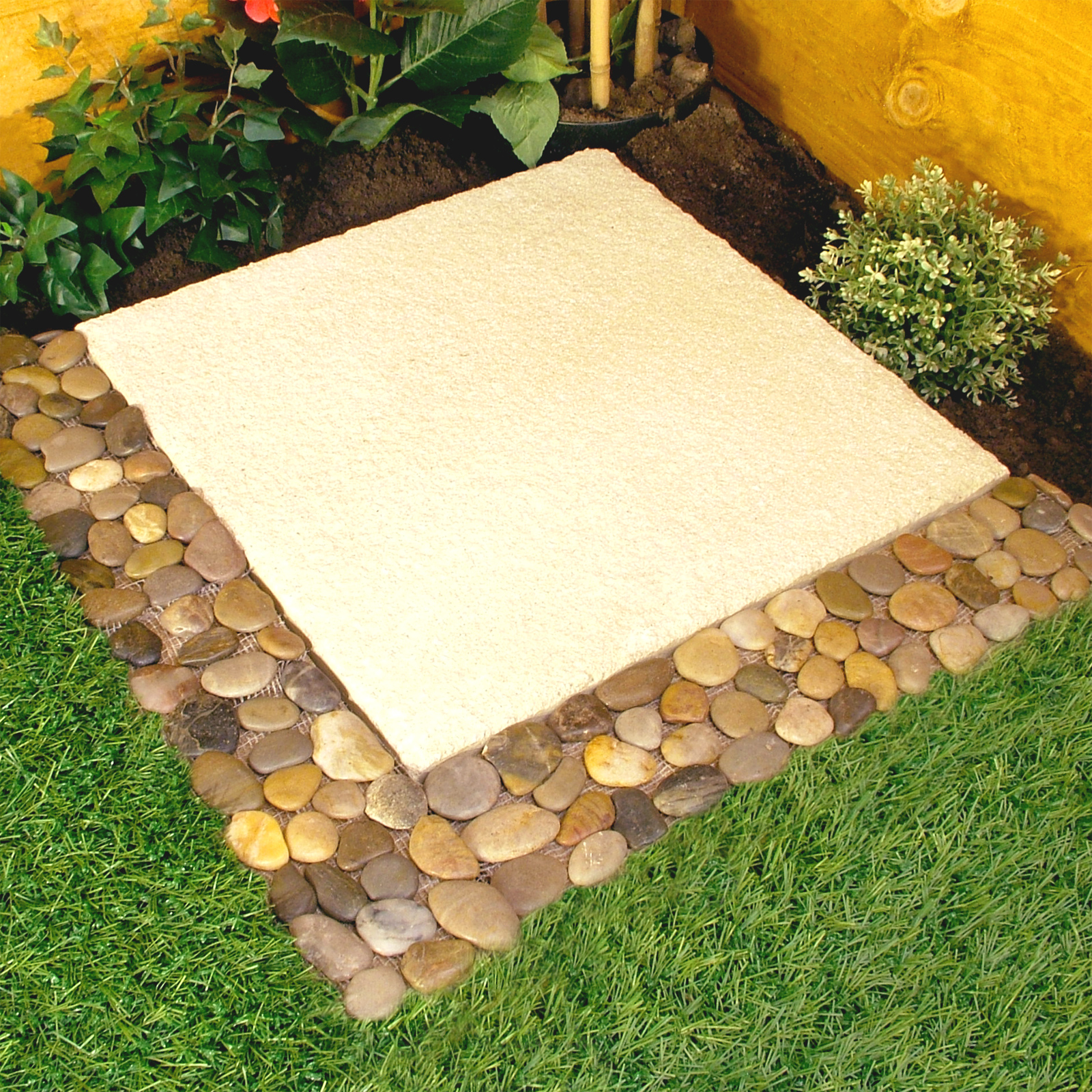 Pebble Border Garden Edging Strips 4pk No More Stones To Sweep eBay