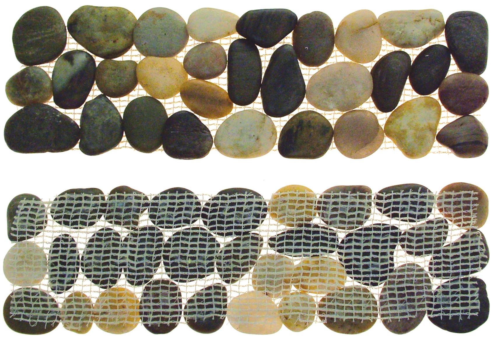 Azulejos Baño Lechada Cemento:Guijarros Jardín / Cuarto Baño Azulejo Frontera 4/8/12/16/20 Tiras