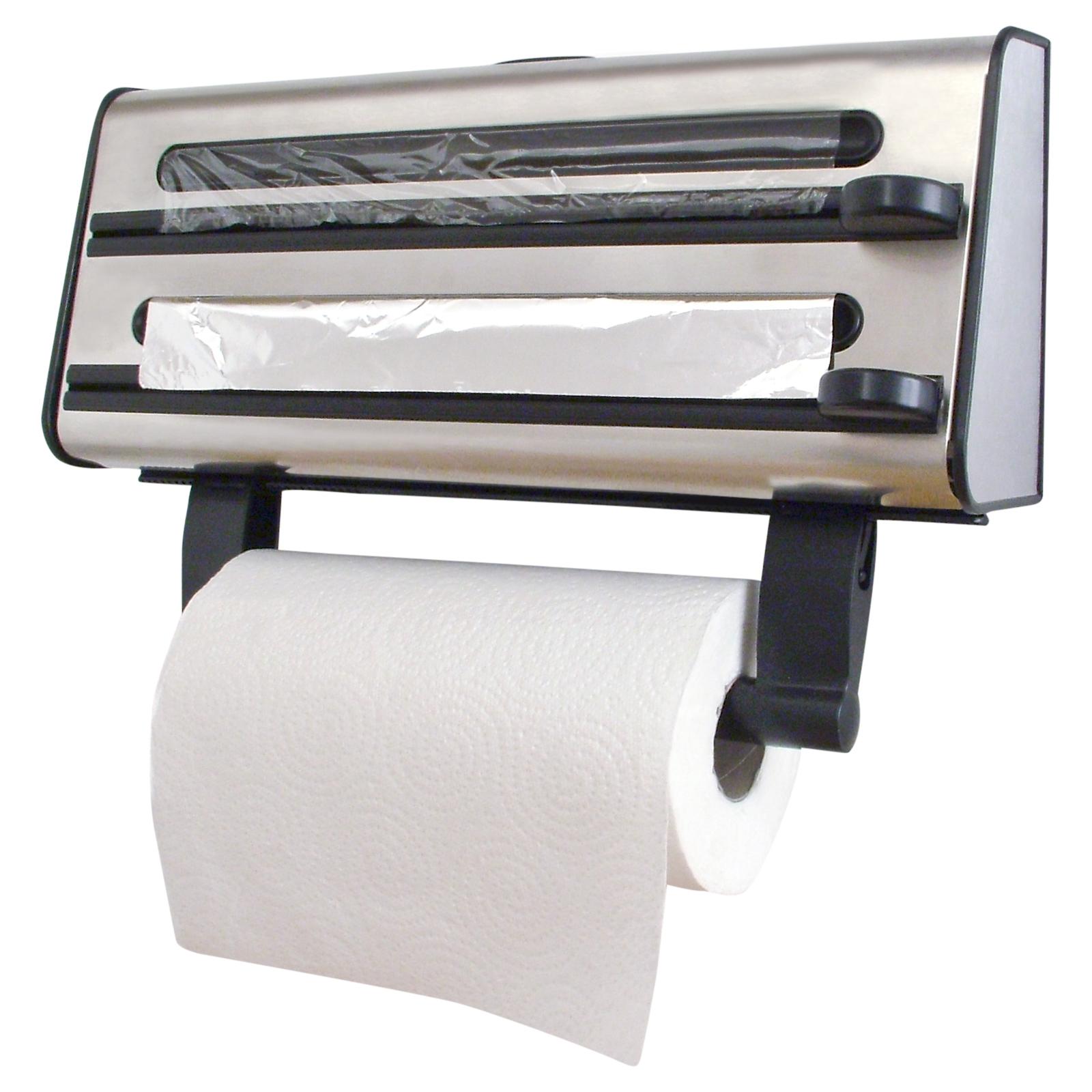 Kitchen Triple Roll Dispenser Cling Film Tin Foil Towel