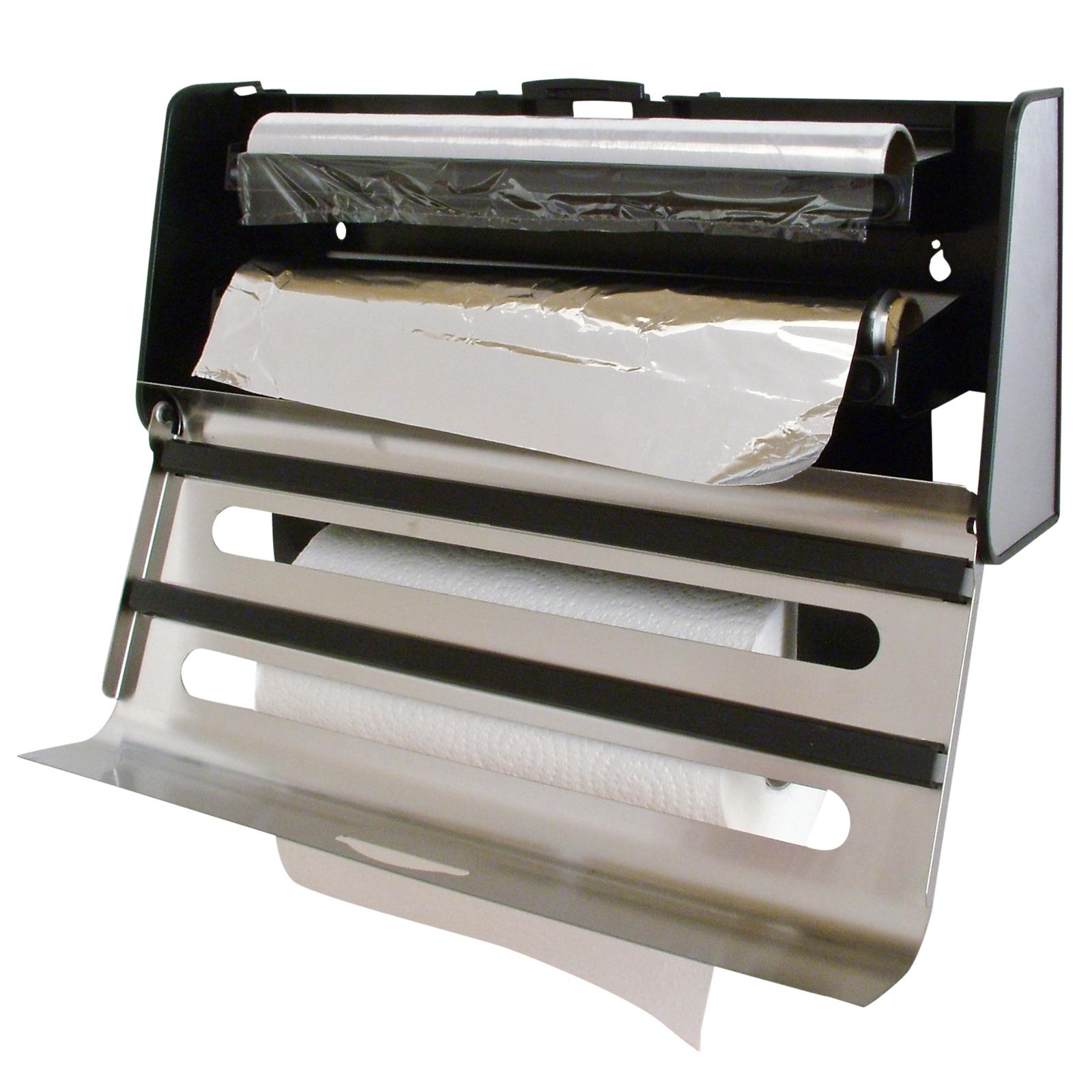 Nice Tin Foil Dispenser Holder Automatic Soap. Best Of Kitchen Roll Cling Film  Tin Foil Dispenser Khetkrong ...