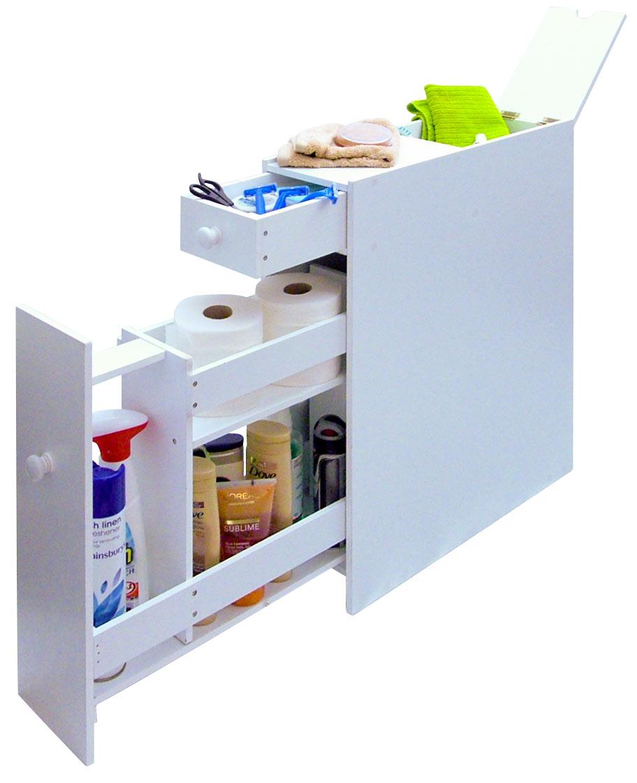 slimline bathroom storage cupboard cabinet unit rack white. Black Bedroom Furniture Sets. Home Design Ideas