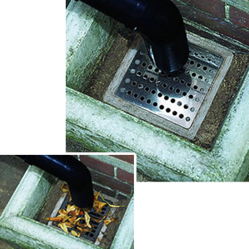 2x outside metal drain covers square outdoor stainless steel 6 15cm plate grate ebay