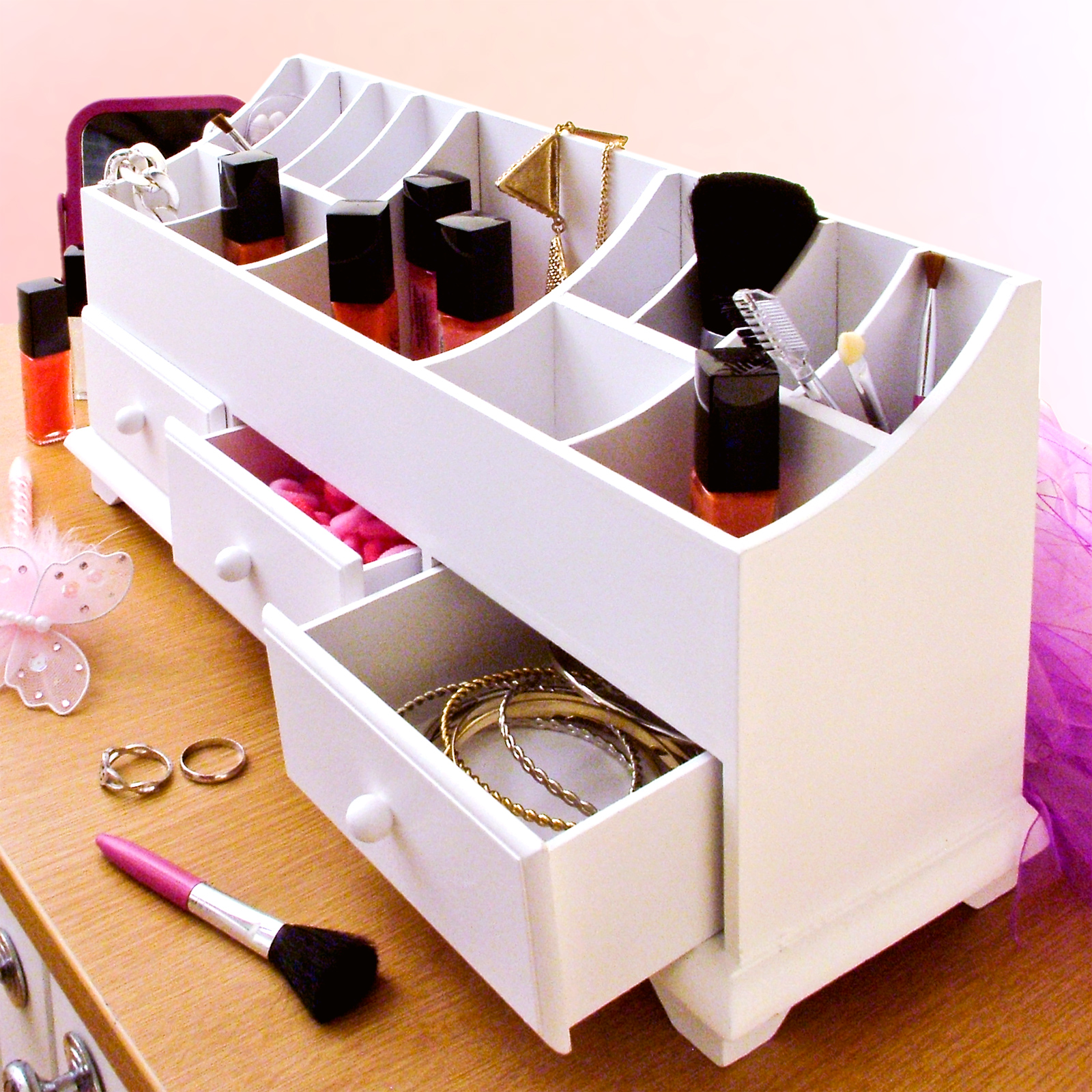 Details About Wooden Desk Tidy Organiser Caddy Pen Holder Tidy Make Up . Full resolution  pic, nominally Width 1600 Height 1600 pixels, pic with #AA6321.