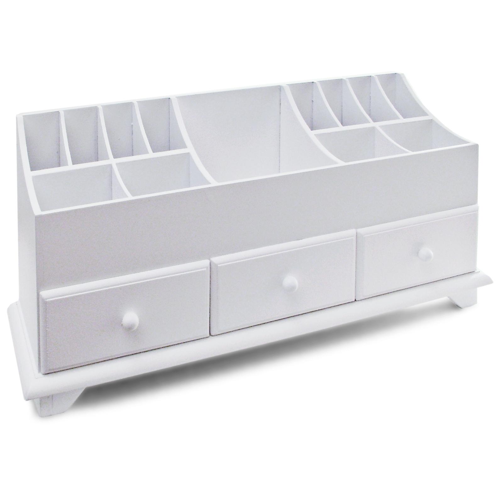 holz schreibtisch ordnungshilfe stifthalter schubladen ideal f r schlafzimmer ebay. Black Bedroom Furniture Sets. Home Design Ideas