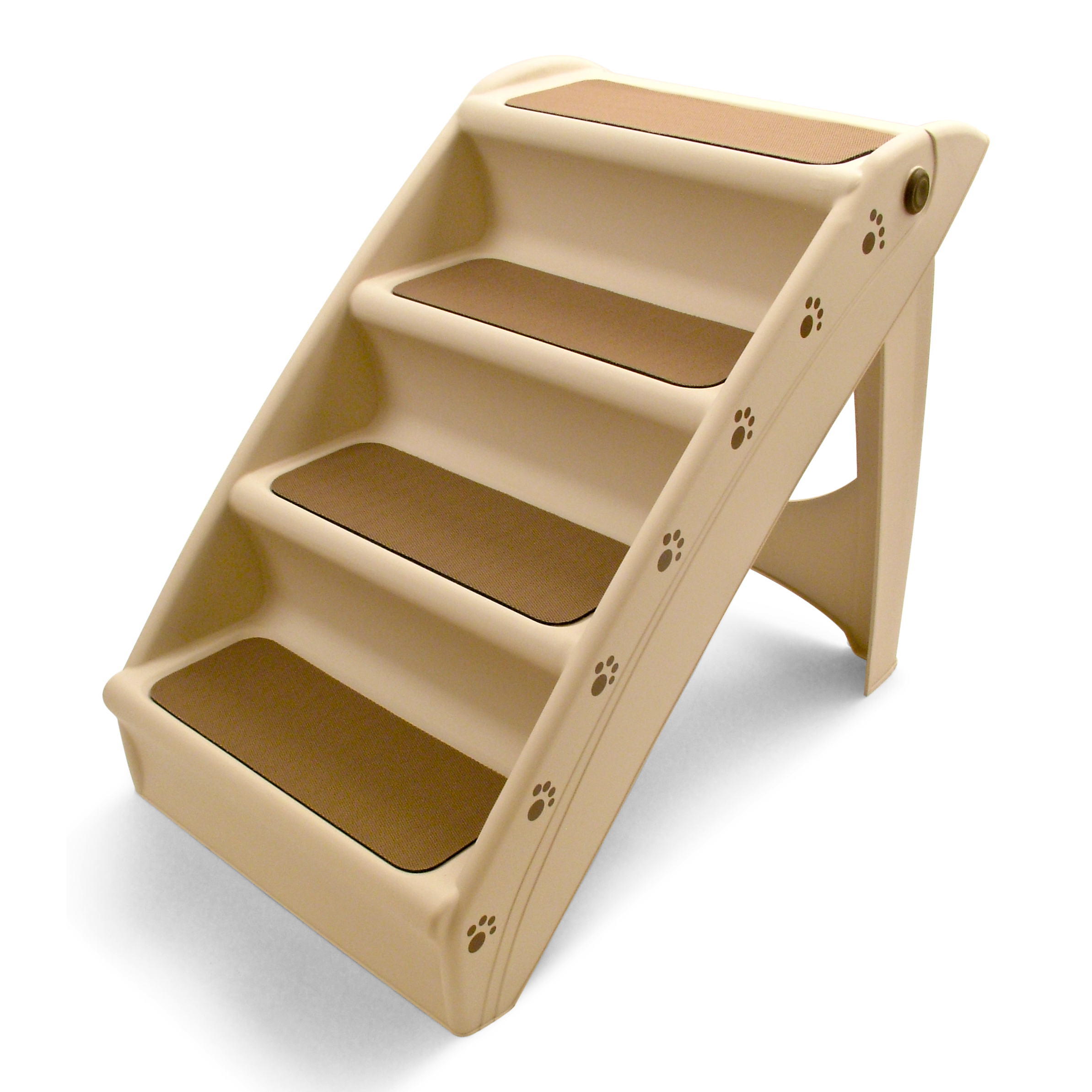Folding dog pet steps stairs compact lightweight ramp for Folding stairs