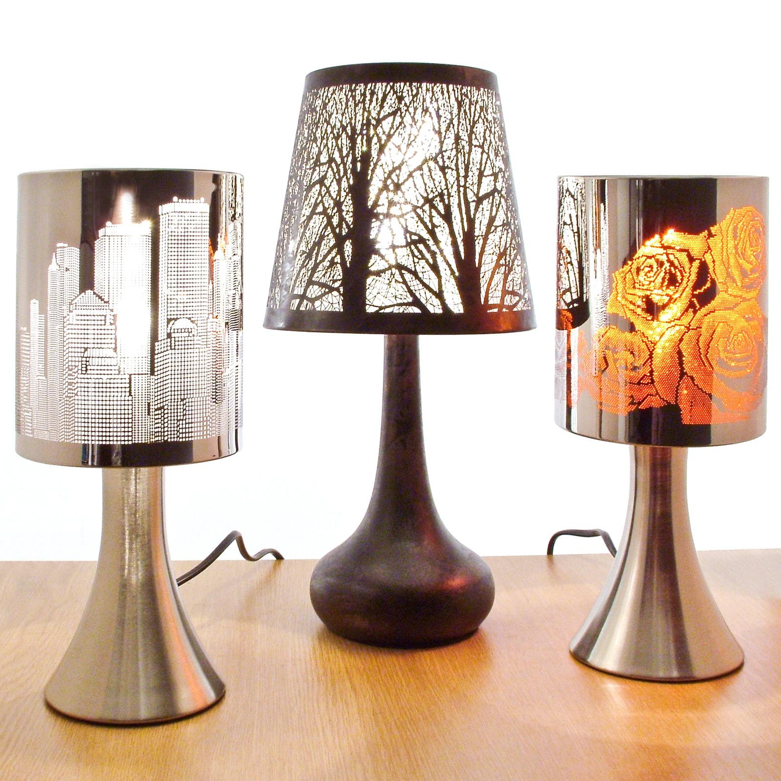 chrome touch lamp dimmer bedside table light new york city