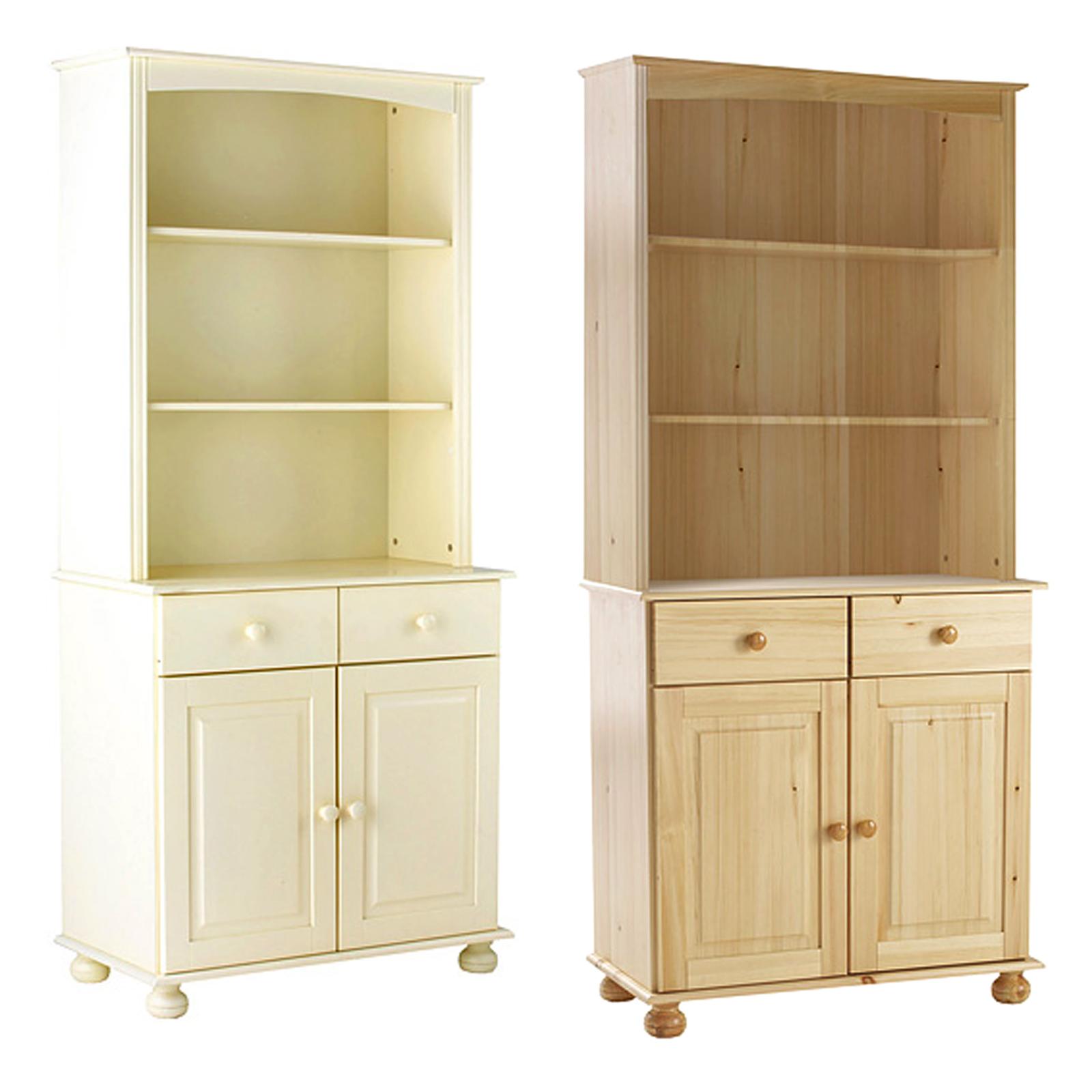 Country Kitchen Dresser: Wooden Kitchen Dresser Solid Pine Or Cream