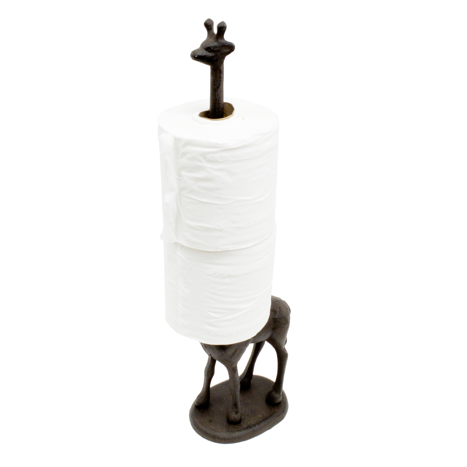 Metal Giraffe Toilet Roll Kitchen Tissue Free Standing