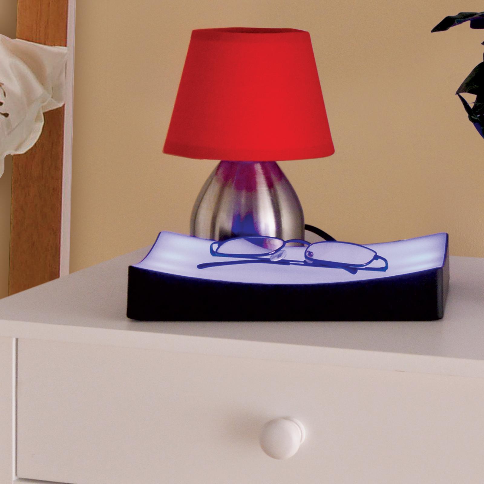 bedside touch lamp tray bedroom lights dimmer blue table blue night light ebay. Black Bedroom Furniture Sets. Home Design Ideas