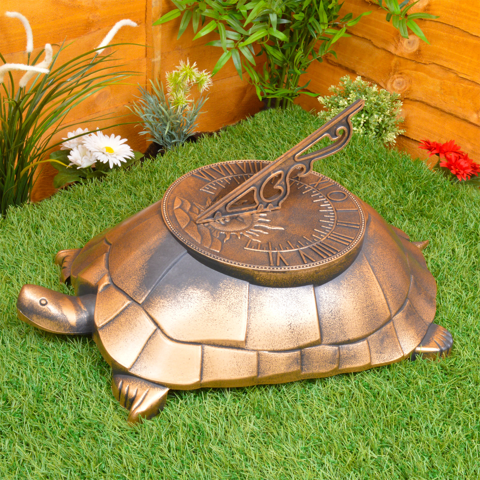 Sundial garden ornament - Tortoise Sundial Garden Large Lightweight Novelty Decoration Ornament