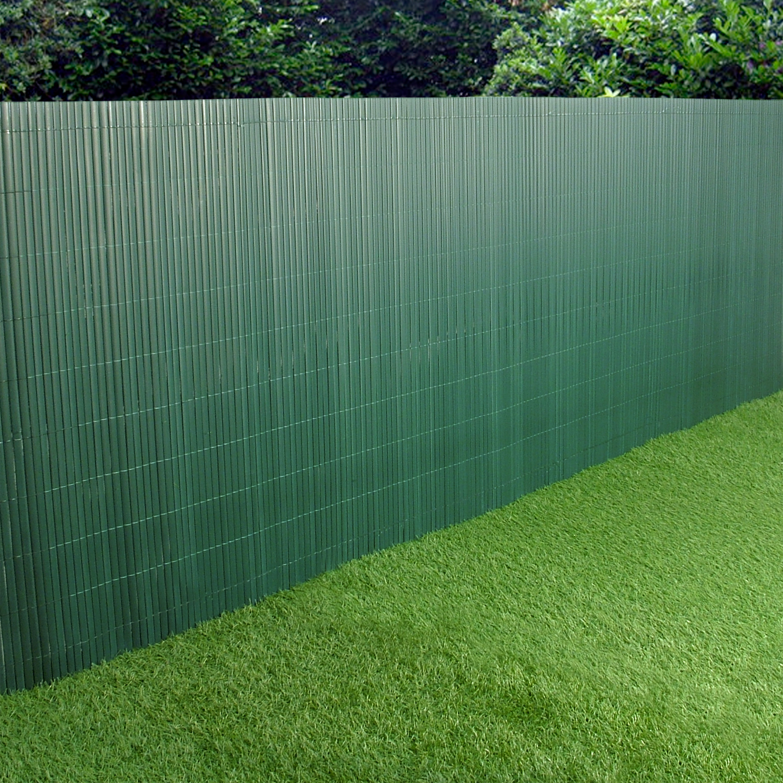 pvc garden fence plastic panel screen double faced green 3m long 1m tall. Black Bedroom Furniture Sets. Home Design Ideas