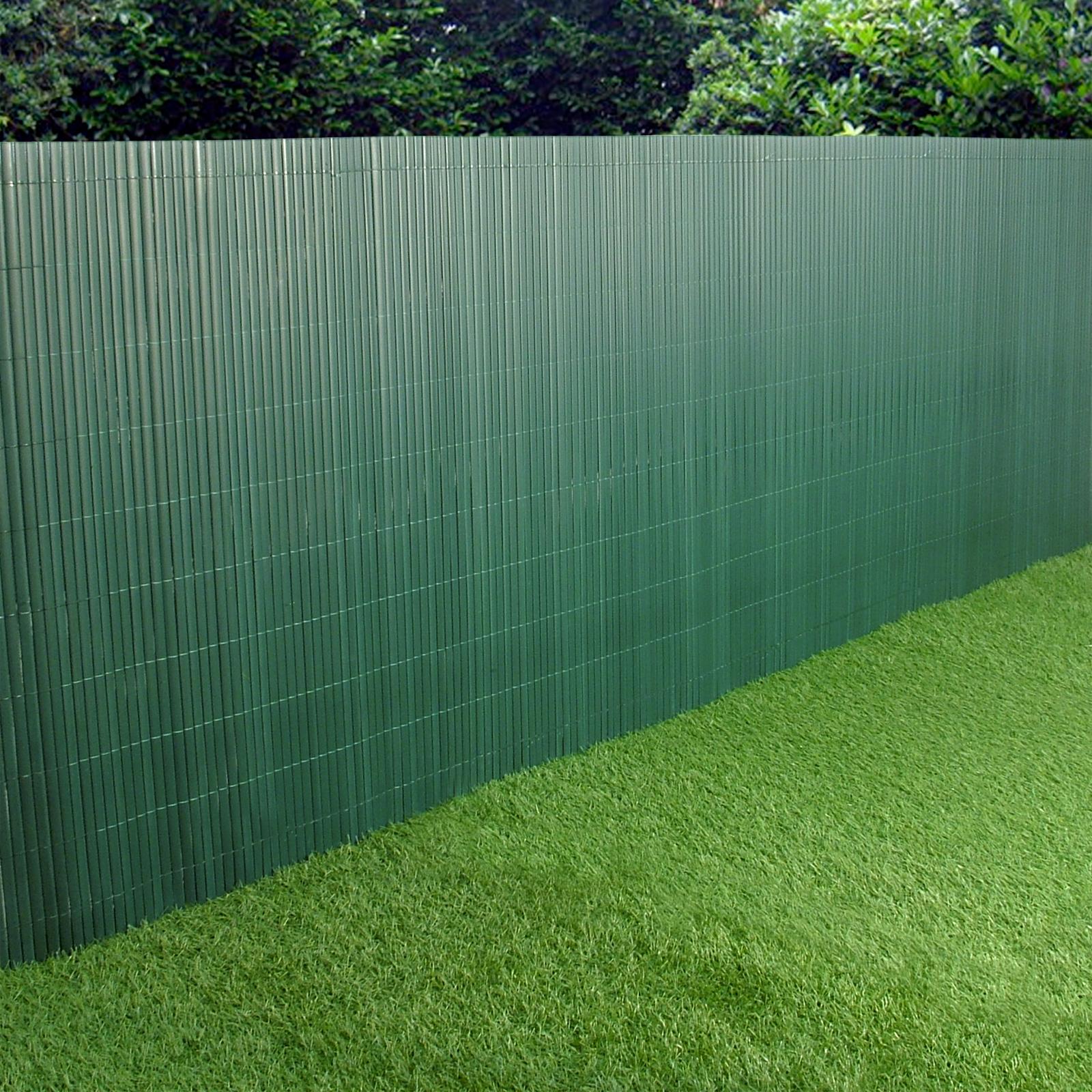 pvc garden fence plastic panel screen double faced green