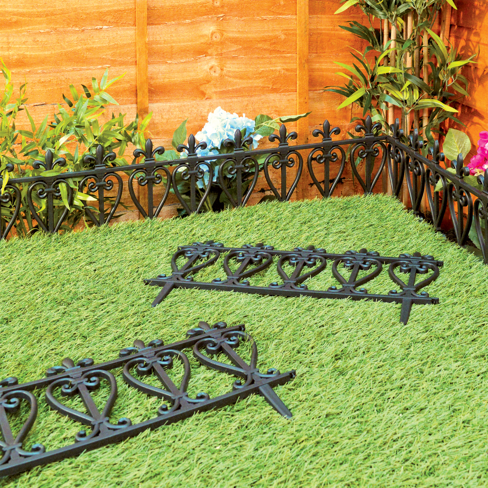 Garden Edging Lawn Flowerbed Border Fence Ornate Victorian Style