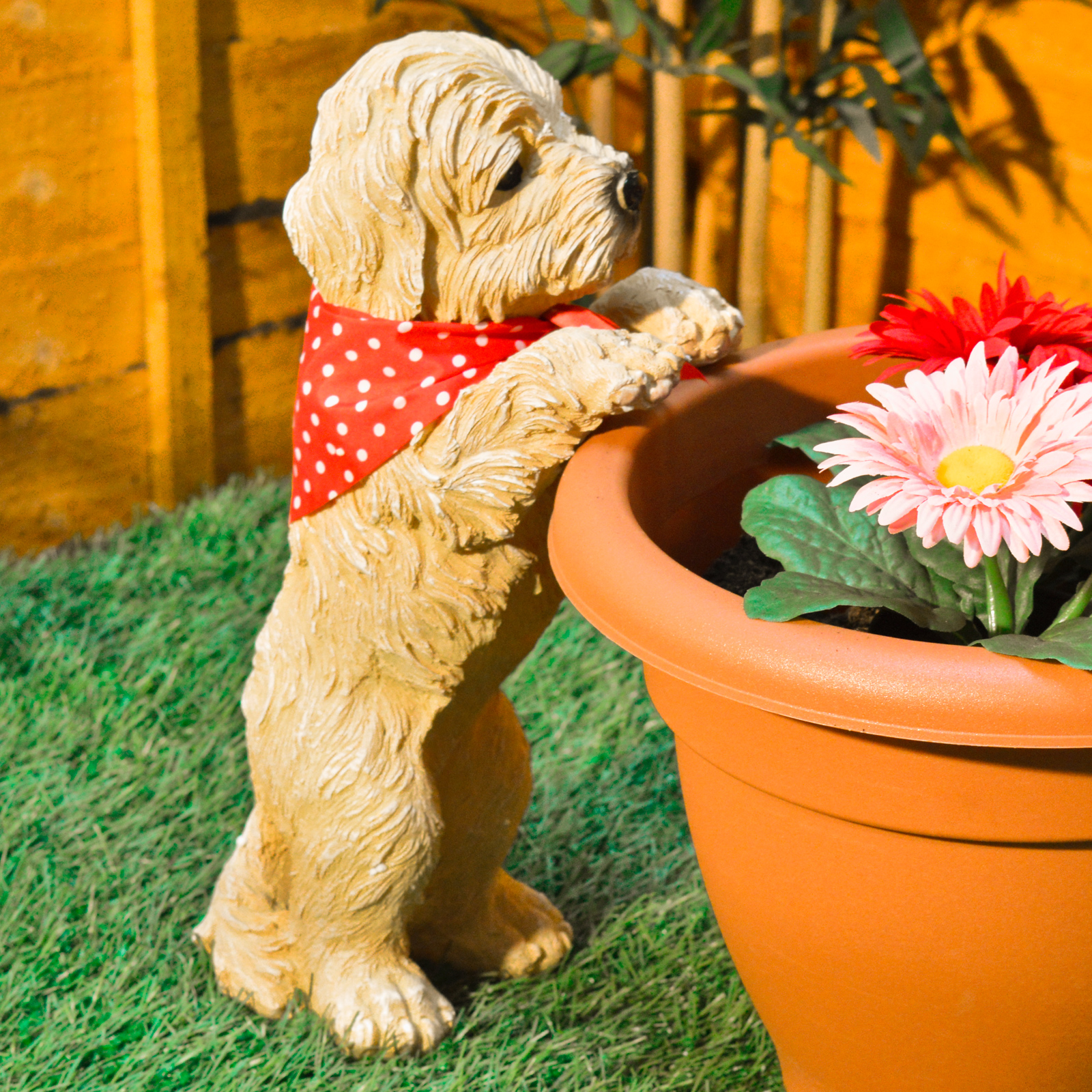 Peeping Puppy Garden Ornament Dog Decoration Plant Pot Outdoor