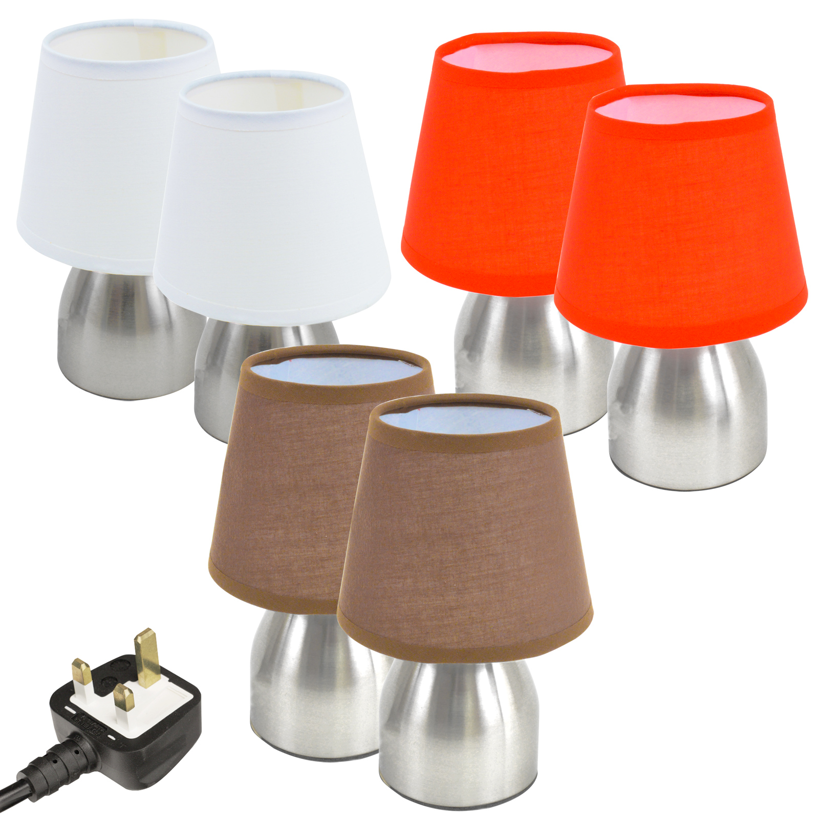 Touch lamps lights light small compact bedside set of 2 pair table dimmer ebay - Touch lamps for bedside table ...