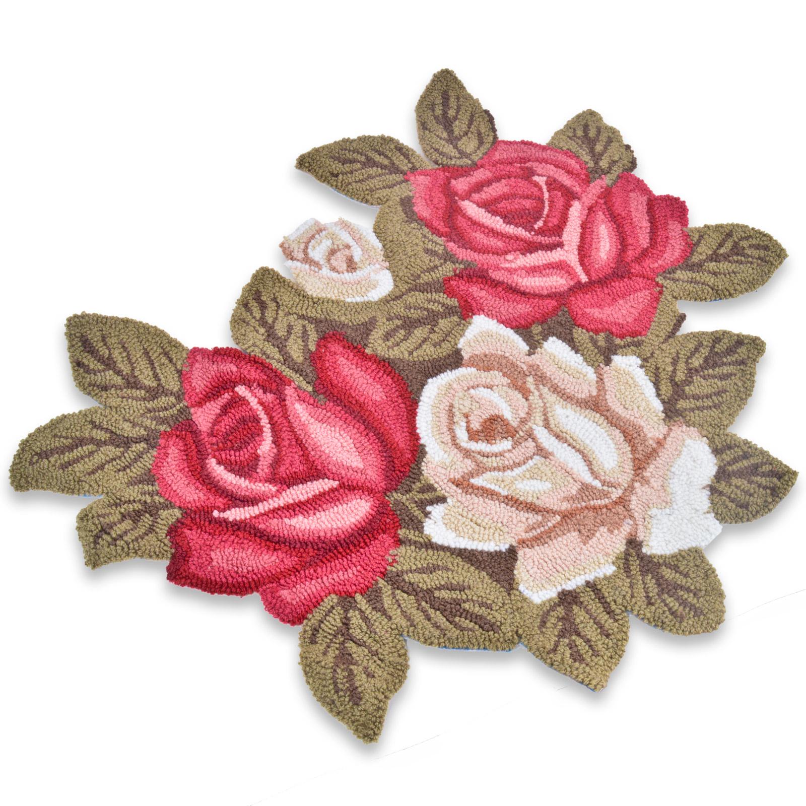28 Rose Shaped Rug Raelyn Red Rose Flower Shaped Rugs