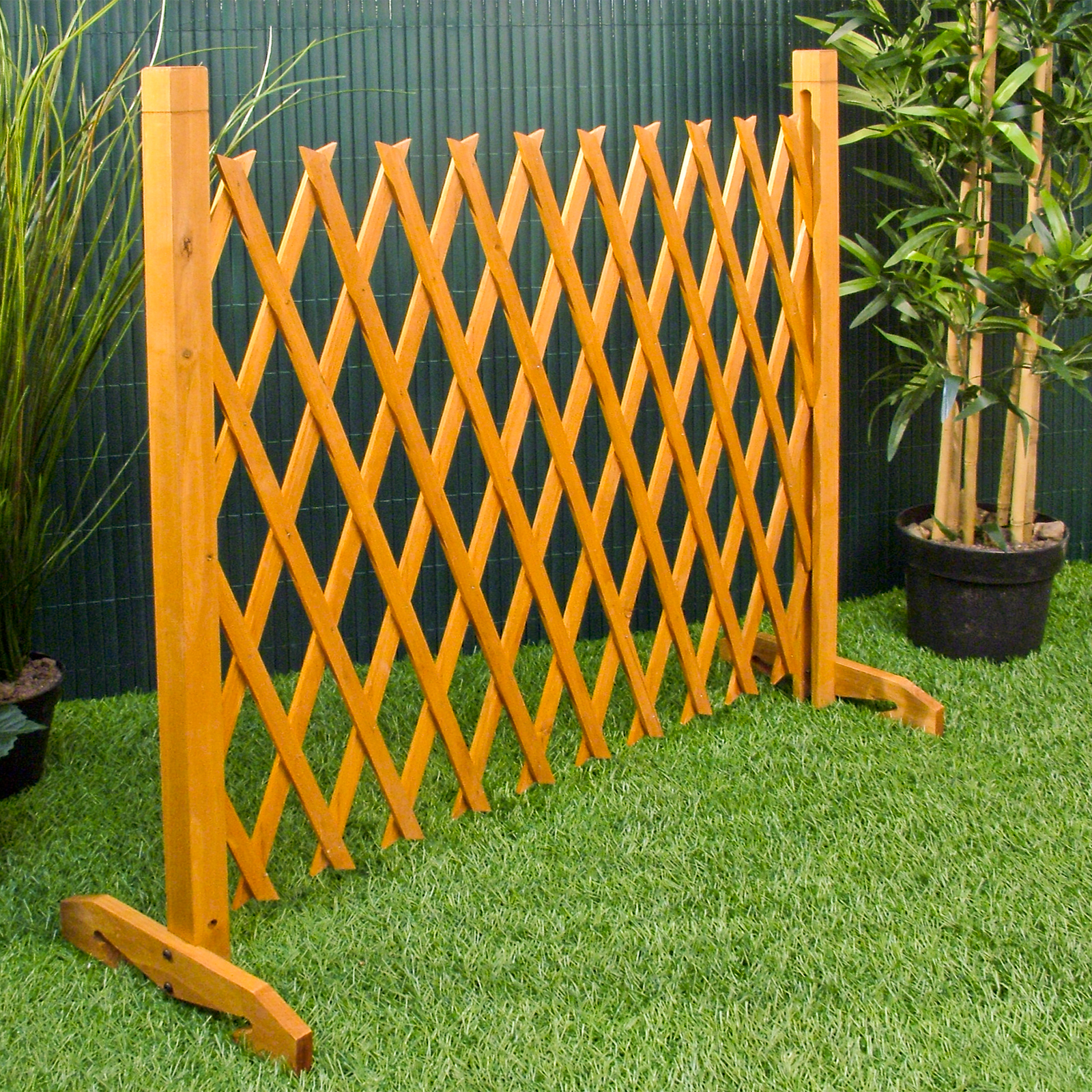 Charming ... Expanding Fence Garden Screen Trellis Style Expands To 6u00272