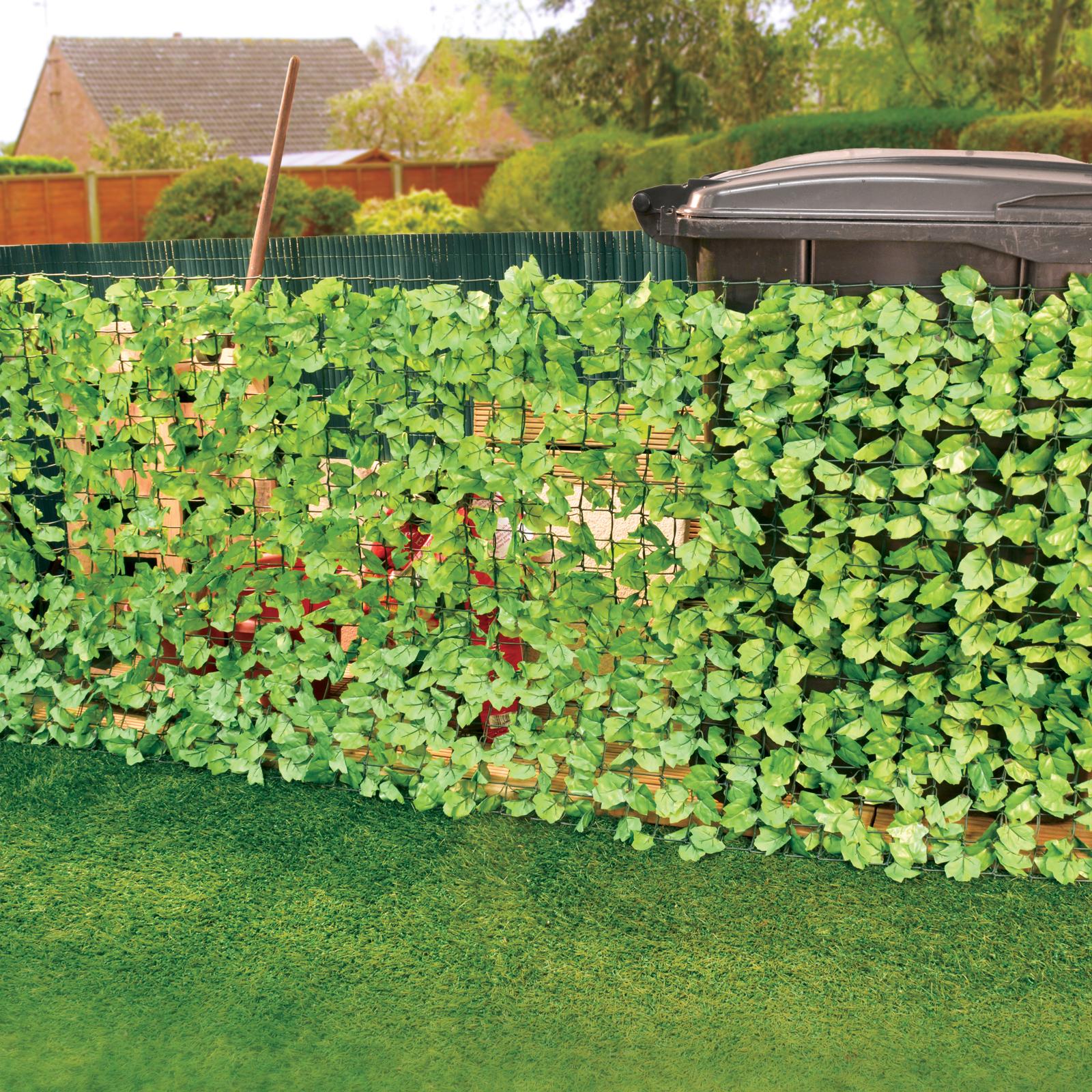 ... 3 Metre Leaf Fence Barrier Garden Divider Decoration Screening Leaves  3m X 1m ...