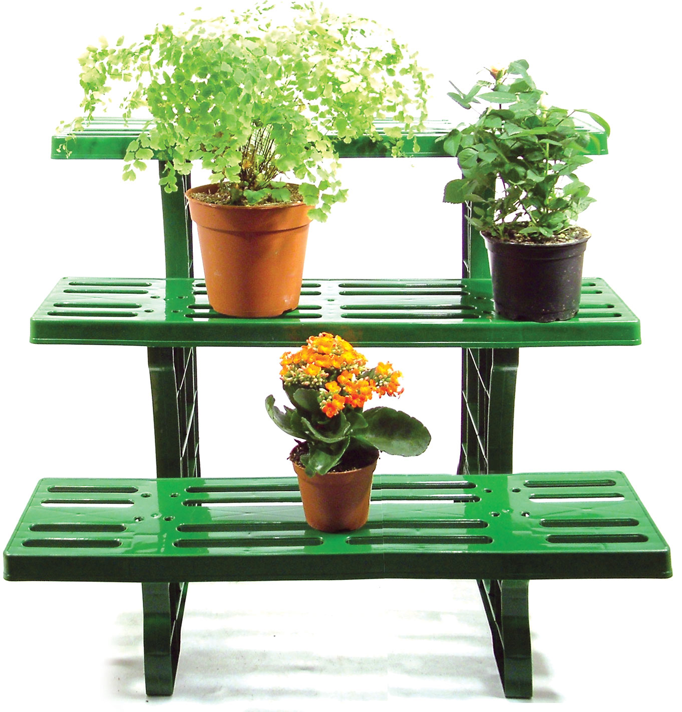 3 tier etagere droit plante pot jardin pr sentoir int rieur ou ext rieur ebay. Black Bedroom Furniture Sets. Home Design Ideas