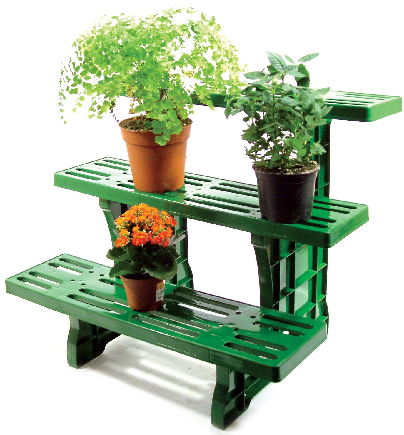 3 tier etagere droit plante pot jardin pr sentoir - Presentoir plantes exterieur ...