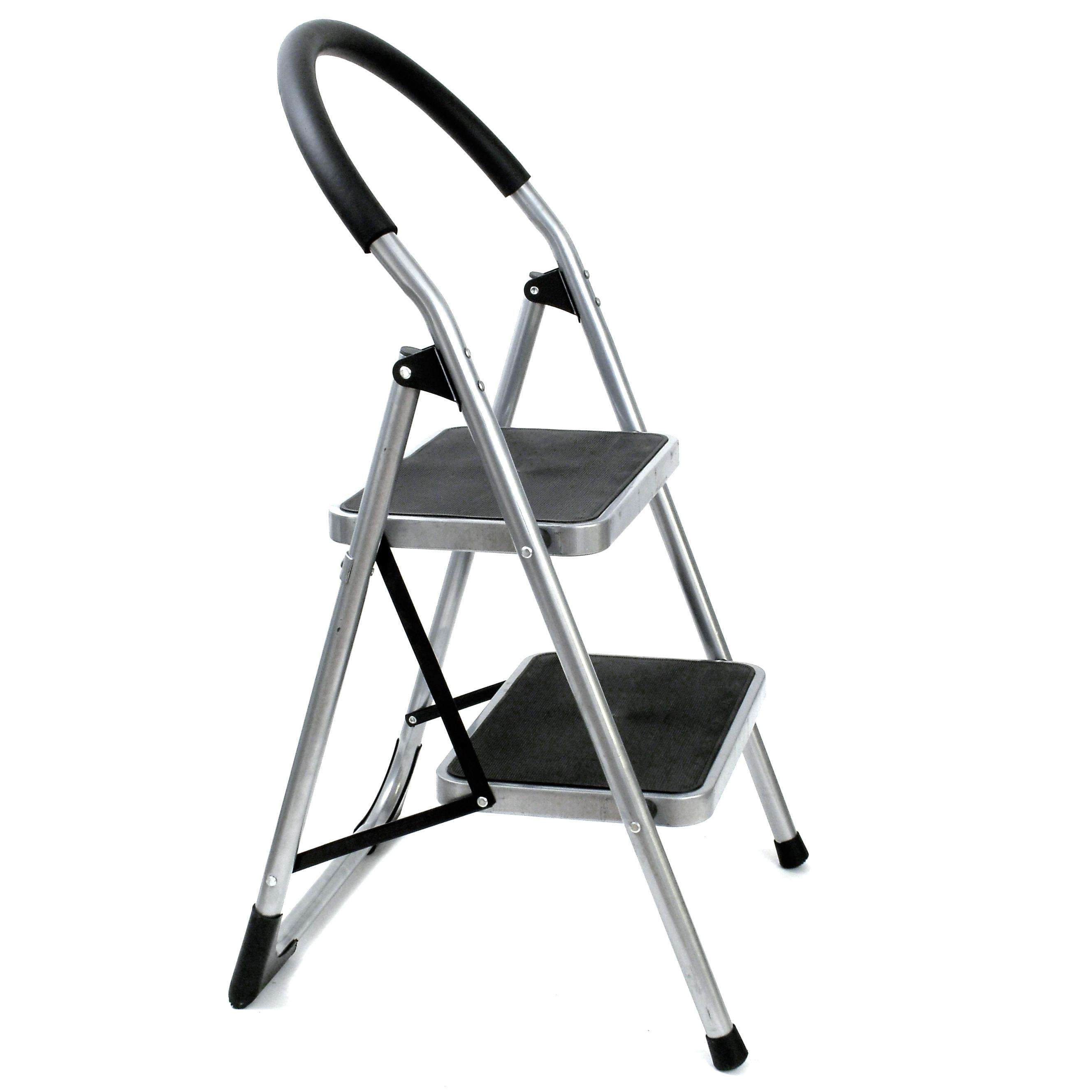 Plegable metal 2 escalera mano taburete silla seguro for Escaleras de aluminio usadas