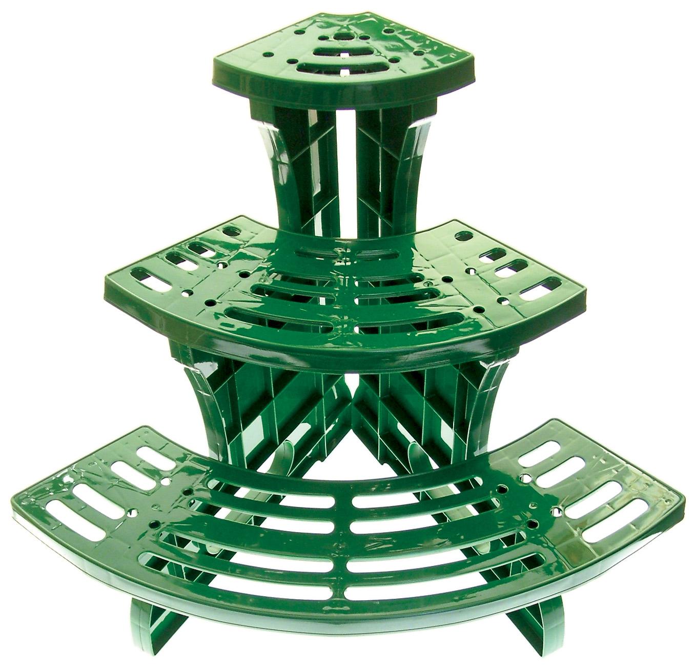 3 tages coin etagere quart cercle en pot plante jardin - Presentoir plantes exterieur ...