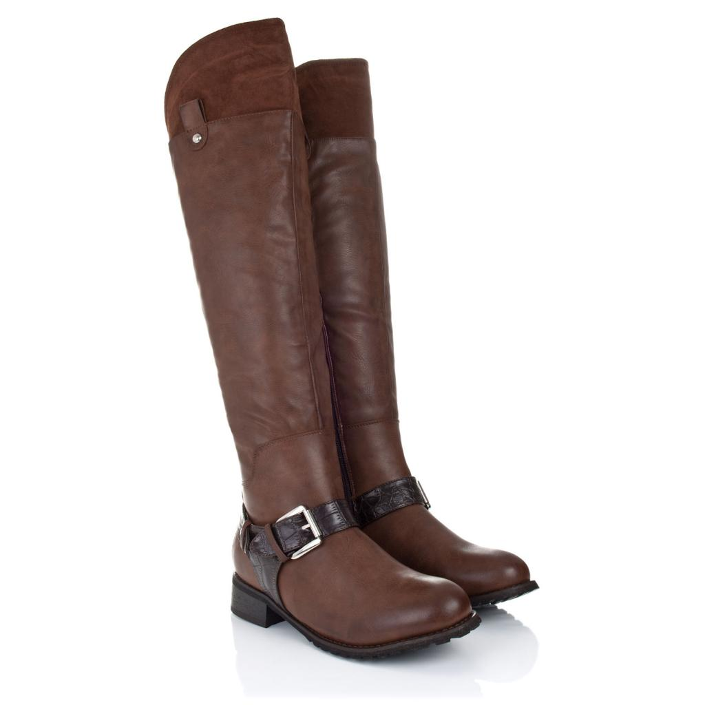 25 simple flat brown leather boots sobatapk