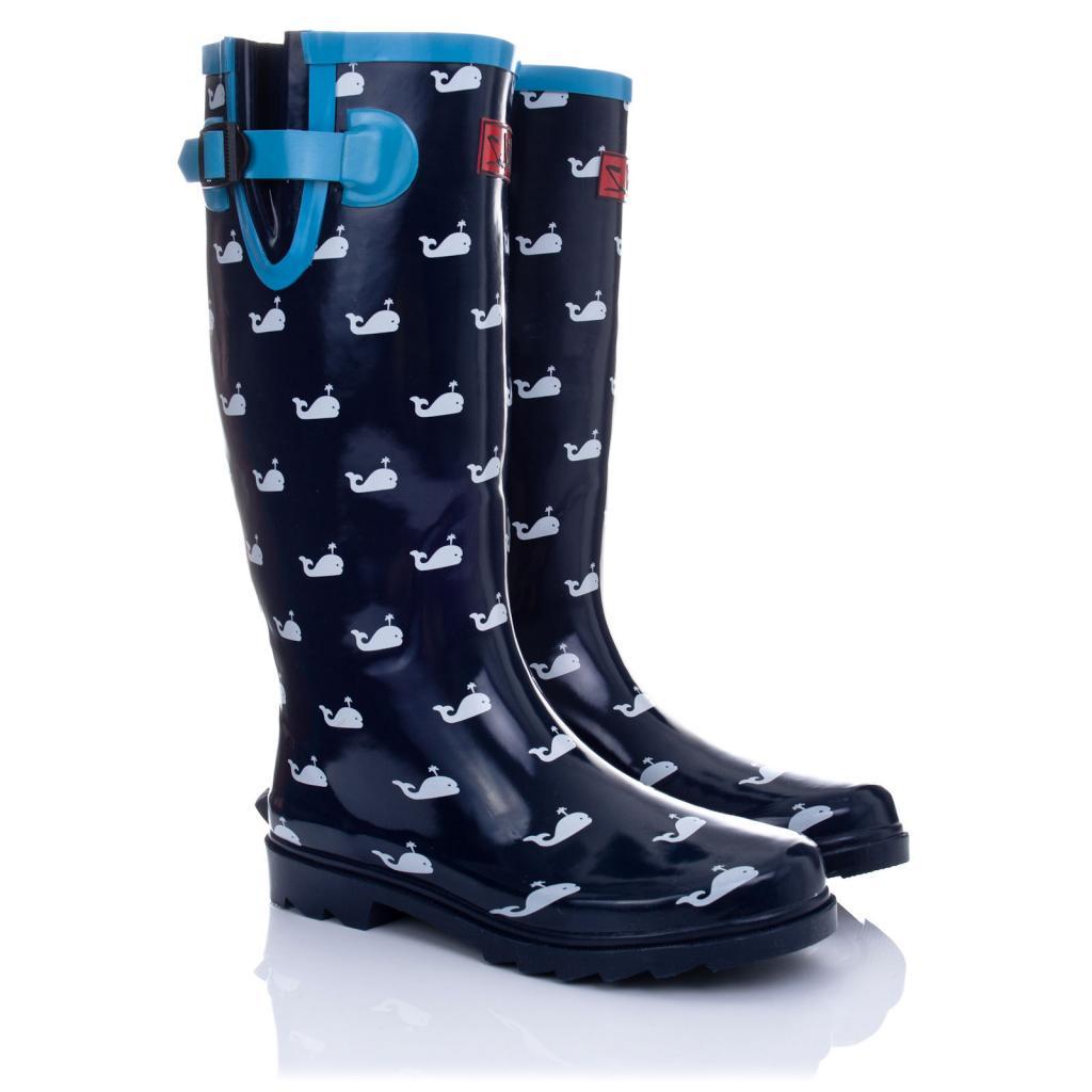 Creative  Womens Funky Snow Rain Welly Wellies Wellington Flat Boots Size  EBay