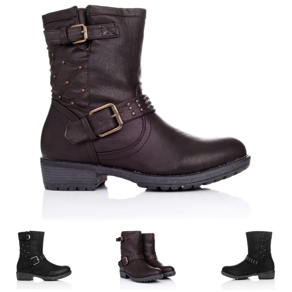 30 model ankle biker boots womens sobatapk